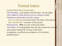 how to write a formal letter 1