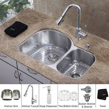 kitchen faucet and sink combo stainless steel kitchen sink combination kraususa
