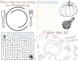 printable placemats for for thanksgiving happy thanksgiving