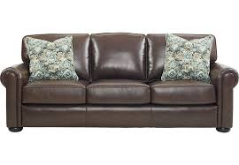 Rooms To Go Sofa Bed Valdosta Walnut Leather Sofa Leather Sofas Brown