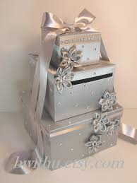 wedding gift money ideas wedding card box silver gift card box money box