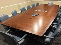 Metal Conference Table Conference Table Logo Inlays Paul Downs Cabinetmakers