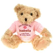 flower girl teddy flower girl a personalised teddy could be a great present