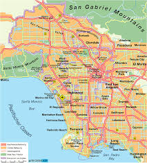 Santa Ana California Map Los Angeles California Map
