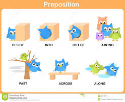 preposition of motion for preschool stock vector image 40348918