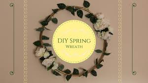 How To Make A Spring Wreath by How To Make Diy Hula Hoop Spring Wreath Youtube
