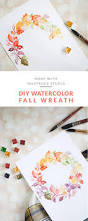 watercolor fall wreath diy watercolor wreaths and learning