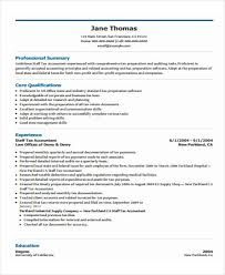Sample Tax Accountant Resume by 31 Free Accountant Resumes
