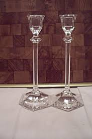Vintage Bohemian Lead Crystal Candle Holder For Three Candles Candle Holders Glass Tias Com