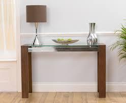 small glass console table stylish narrow oak console table with nice narrow glass console