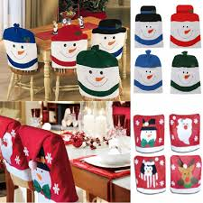 snowman chair covers 4 x christmas theme chair hat back covers party dinner table