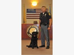 meet omie the newest member of the stafford township police