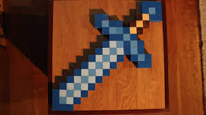 minecraft diamond sword how to make in real life wood blocks