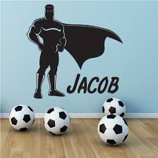 aliexpress com buy movable popular boy hero superman art deco aliexpress com buy movable popular boy hero superman art deco wall decals vinyl stickers personalized baby nursery mural wall stickers f 87 from reliable