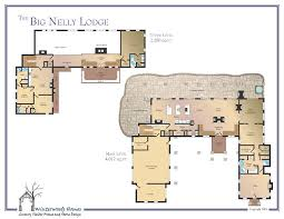 the big nelly large log cabin plan winterwoods homes
