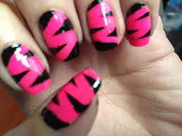 animal print nail art tutorial pink u0026 black nails youtube