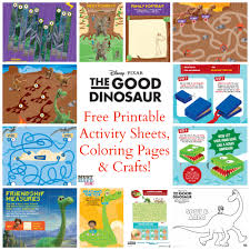 free the good dinosaur activities coloring pages crafts