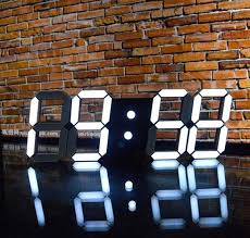 le de bureau led design horloge de bureau design 4 colors led clock digital alarm clock wall