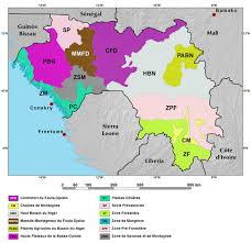 Map West Africa by Ecoregions And Topography Of Guinea West Africa