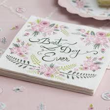 floral design best day paper napkins by