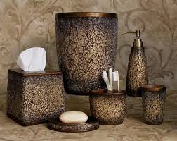Glass Bathroom Accessories by Faux Crackled Glass Mocha Ice Bath Accessories Bathroom Collection