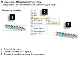 3d regular implementation 7 steps flow chart template powerpoint