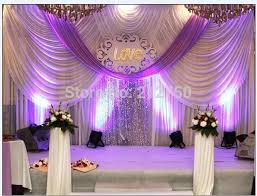 marriage decoration luxurious white purple 3m 6m marriage decoration wedding backdrop