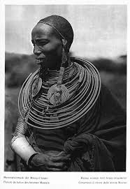 africa masai with brass ornaments ca 1930 hugo