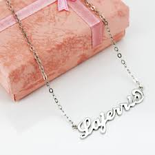 silver s925 silver personalized name necklace lajerrio jewelry