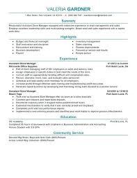 assistant manager resumes assistant manager resume exle