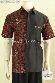desain baju jepang hem lengan pendek pria keren batik kemeja terbaru hadir dengan