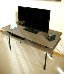 Diy Industrial Desk by Diy Tv Stand A Blend Of Industrial Rustic And Modern