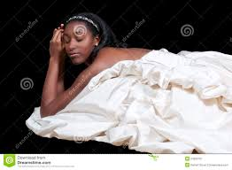 black woman in wedding dress royalty free stock photography