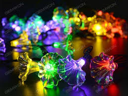 solar led lights string 20 lights 4 8 meters morning glories