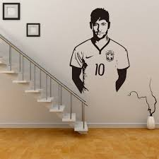 2016 new famous football hall of neymar boys bedroom home decor