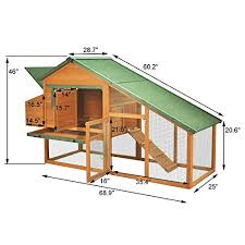 slant roof pawhut wooden backyard slant roof hen house chicken coop chicken