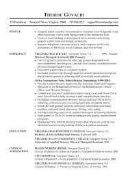 Resume Physical Therapist Physical Therapist Resume Sample Physical Therapist Resume Pta