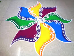 fancy colour rangoli design youtube