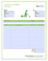 Invoice Templates Pdf Free Carpet Cleaning Service Invoice Template Excel Pdf Word