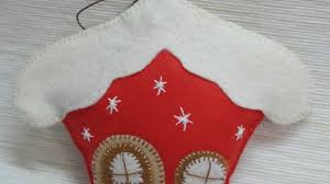 how to make a felt christmas sweet house diy crafts tutorial
