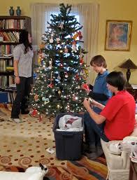 set up christmas tree christmas lights decoration