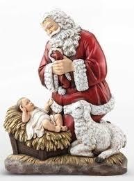 santa and baby jesus picture 24 joseph s studio kneeling santa with baby jesus and