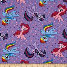 Home Decor Print Fabric by My Little Pony Purple Discount Designer Fabric Fabric Com