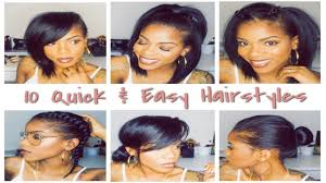 Easy Hairstyles For Medium Straight Hair by 10 Easy Hairstyles In Under 3 Minutes Youtube