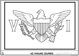 us virgin islands flag coloring pages free