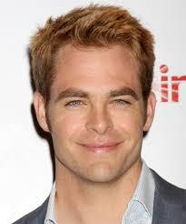 blonde male celebrities chris pine short straight casual hairstyle medium blonde copper