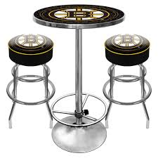 boston bruins gameroom combo 2 bar stools and table