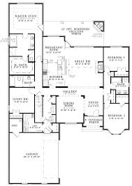 baby nursery 2000 sq ft single story house plans country style