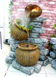 architecture cool unique garden water fountains with rocks