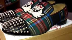 christian louboutin for men tartan plaid louboutin red bottom
